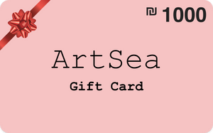 ILS 1000 ArtSea Gift Card for art and crafts workshops in Tel Aviv Area