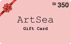 ILS 350 ArtSea Gift Card for art class in Central District, Israel