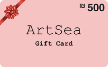 Load image into Gallery viewer,  ILS 500 ArtSea Gift Card for art and crafts workshops in Israel