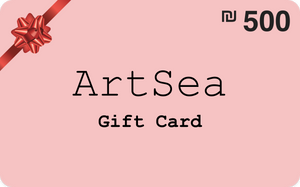 ILS 500 ArtSea Gift Card for art and crafts workshops in Israel