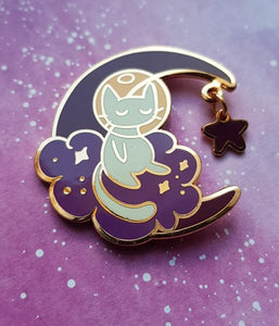 Crescent Moon Pin - Astro - Jelly Kat Studio