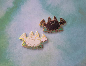 Fly By Night - Fluffy Bat Charity Pin - Jelly Kat Studio