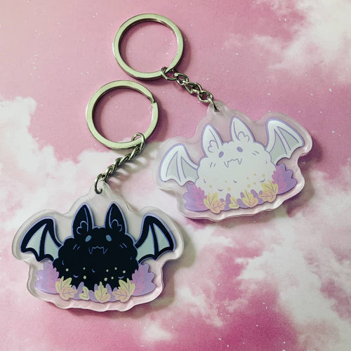 Fluffy Bat Acrylic Charm