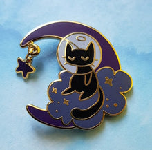 Load image into Gallery viewer, Crescent Moon Pin - Cosmos - Jelly Kat Studio