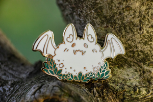 Fly By Night - Fluffy Bat Charity Pin
