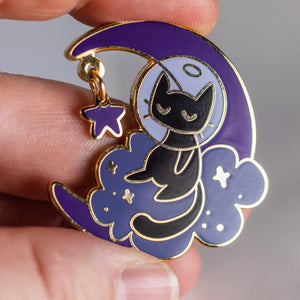 Crescent Moon Pin - Cosmos