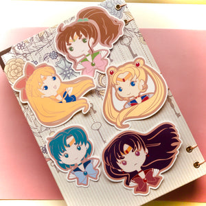 Sailor Moon Sticker Pack (Set of 5)