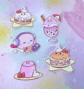 Kirby's Sweet Treats Sticker Pack (Set of 6)