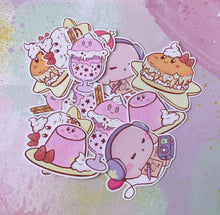 Load image into Gallery viewer, Kirby's Sweet Treats Sticker Pack (Set of 6)