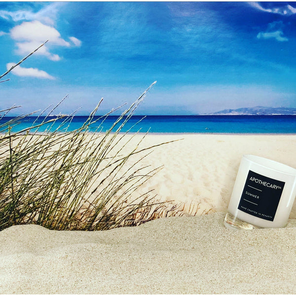 Summer Luxury Soy Candle - APOTHECARY64. Made in Wales.