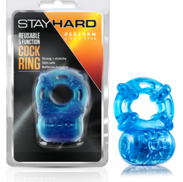 Stay Hard 5 Func - Vibrating C RING