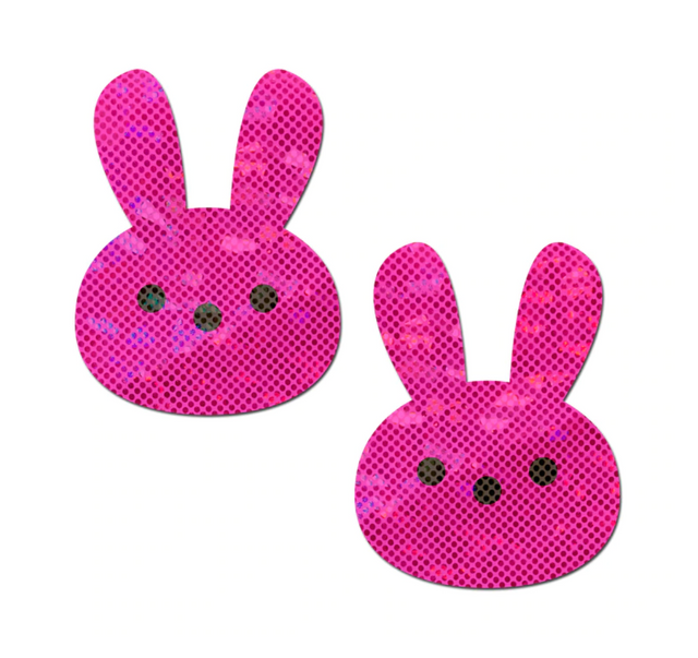 Glittery Pink Marshmallow Easter Bunny
