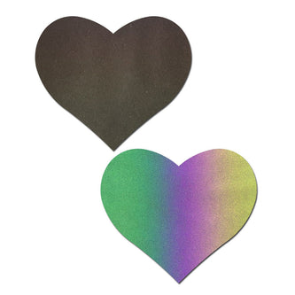 Reflective Rainbow Heart Pasties