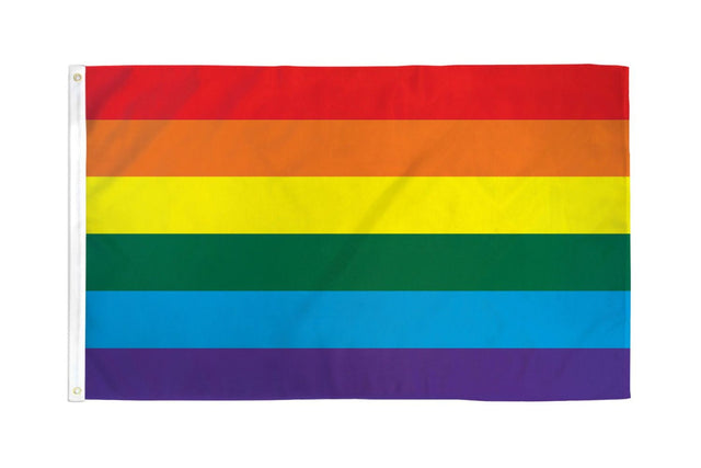 Rainbow NYLON Flag 3' X 5'
