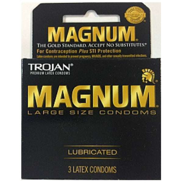Trojan Magnum Large Lubricated - 3 pk