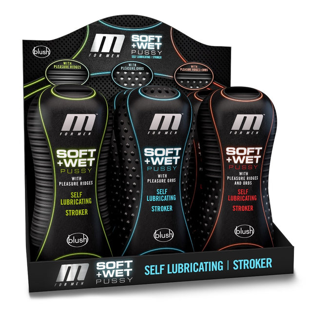 M for Men Soft and Wet 6pc Counter Disp