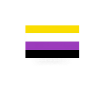 Non-Binary Pride Sticker (2'' X 3'')