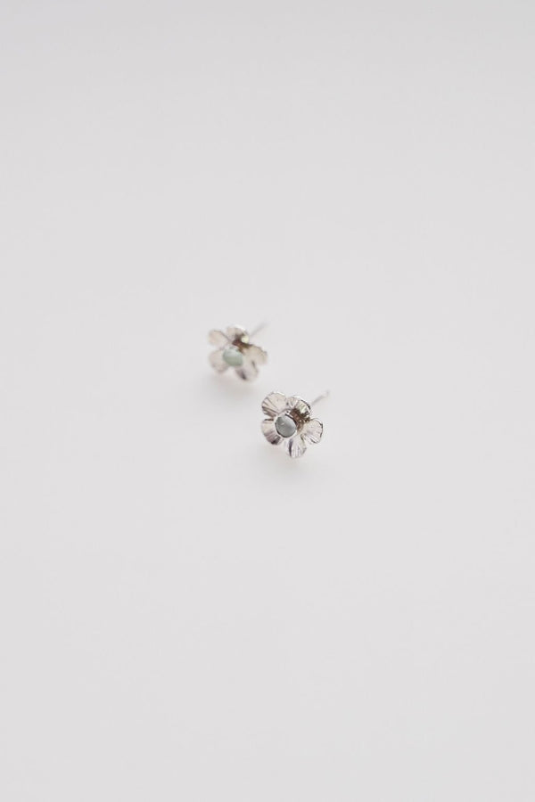 Aquamarine Flower Power Studs