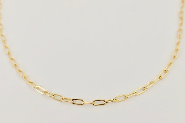 The gold oval layering necklace