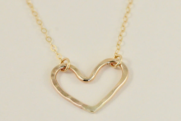 Our small gold heart necklace