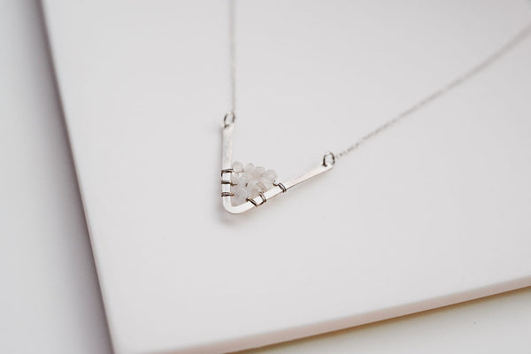 The silver mountain necklace