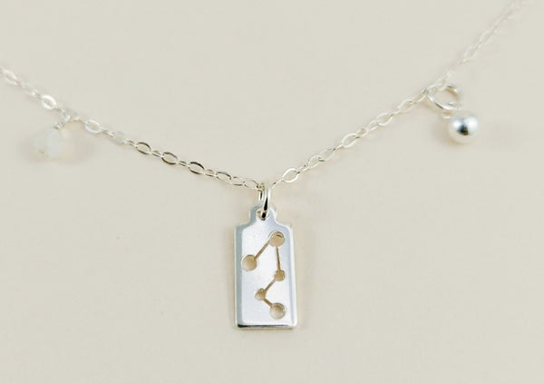 Capricorn Silver Necklace
