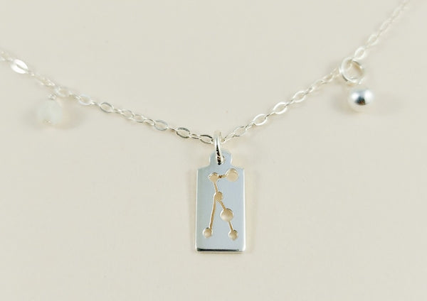 Virgo Silver Necklace
