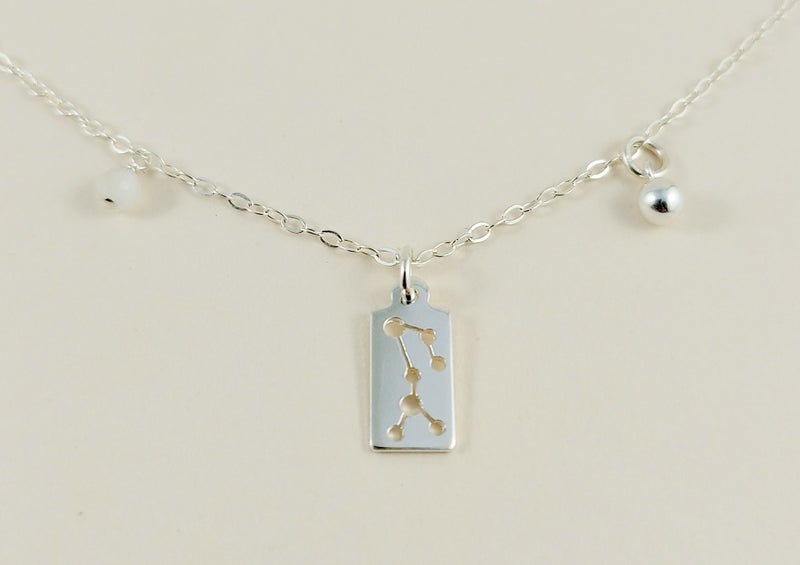 Sagittarius Silver Necklace