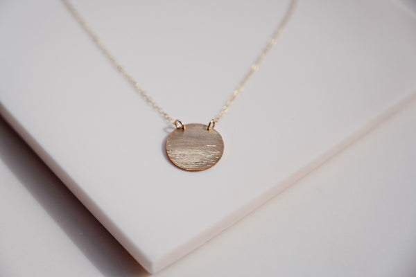 Moon Over Water Gold Necklace