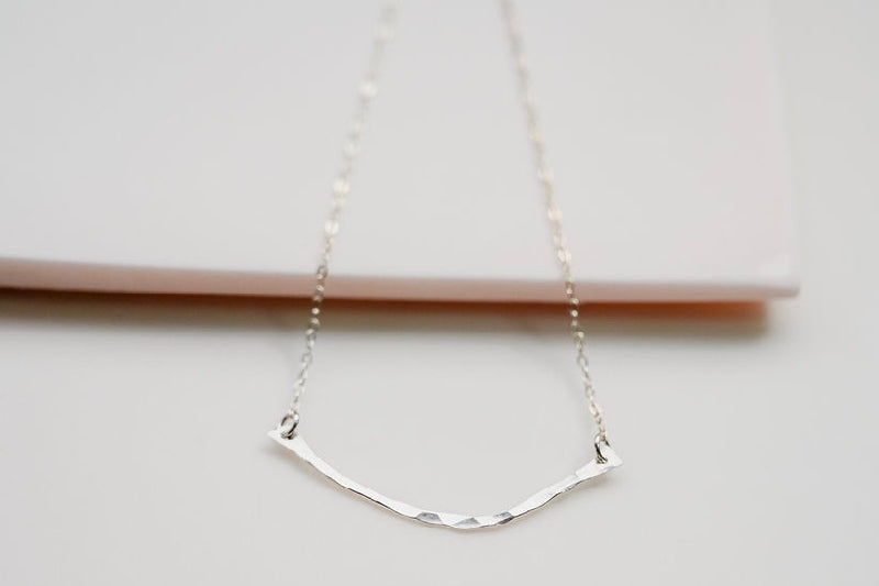 Silver Branch Textured Necklace