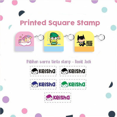 Printed Square Stamp