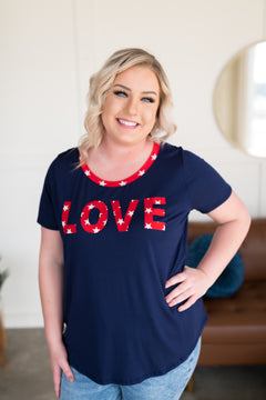 What Is Love Tee in Navy