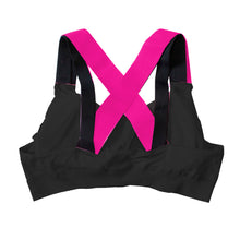 Load image into Gallery viewer, Bonnie's Black Strappy Large Bust Sports Bra