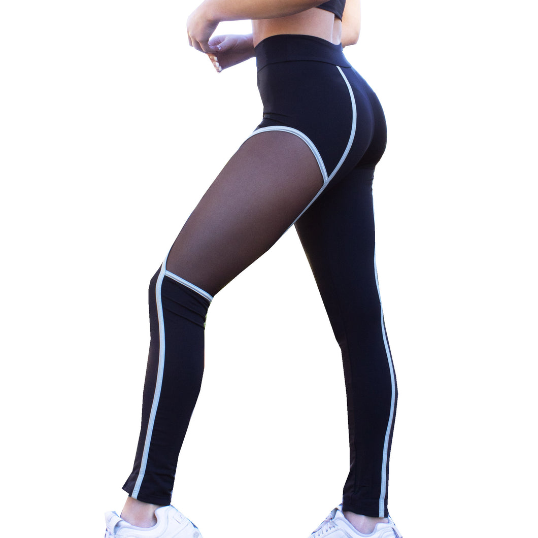 Black Hyperspace Mesh Workout Leggings