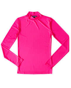Neon Pink Sporty Mesh Long Sleeve