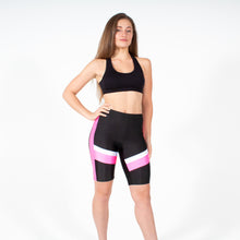 Load image into Gallery viewer, Silver Pink Biker Board Shorts