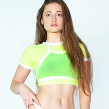 Load image into Gallery viewer, Gym Swim Mesh Crop Top