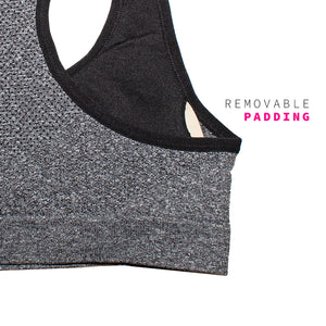 Heather Grey Racerback Large Bust Sports Bra