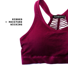 Load image into Gallery viewer, Rouge Defender Ribbed Sports Bra