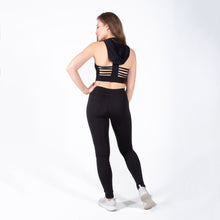 Load image into Gallery viewer, Black Sports Bra Hoodie