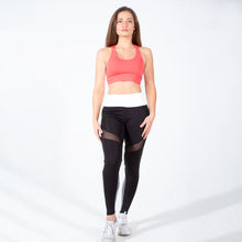 Load image into Gallery viewer, Black White Speedway Club Mesh Leggings