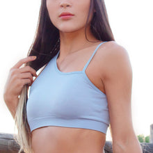 Load image into Gallery viewer, Moon Dust Blue Sports Bra