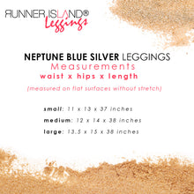 Load image into Gallery viewer, Neptune Blue Mesh Workout Leggings