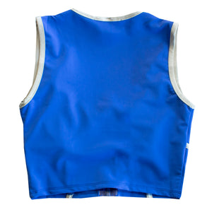 Neptune Blue Workout Crop