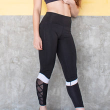 Load image into Gallery viewer, White Cuff Training Tights