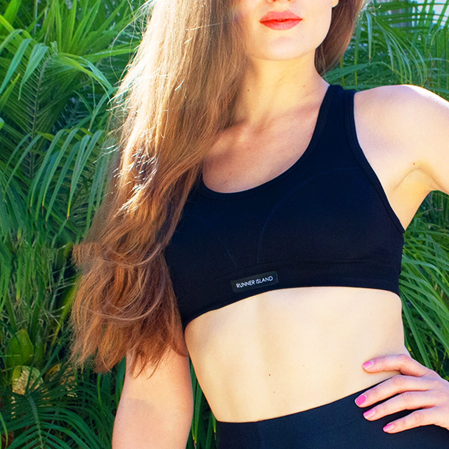 Runner Island® Box Logo Sports Bra