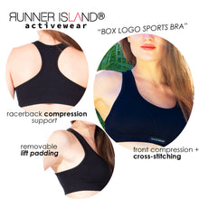 Load image into Gallery viewer, Runner Island® Box Logo Sports Bra