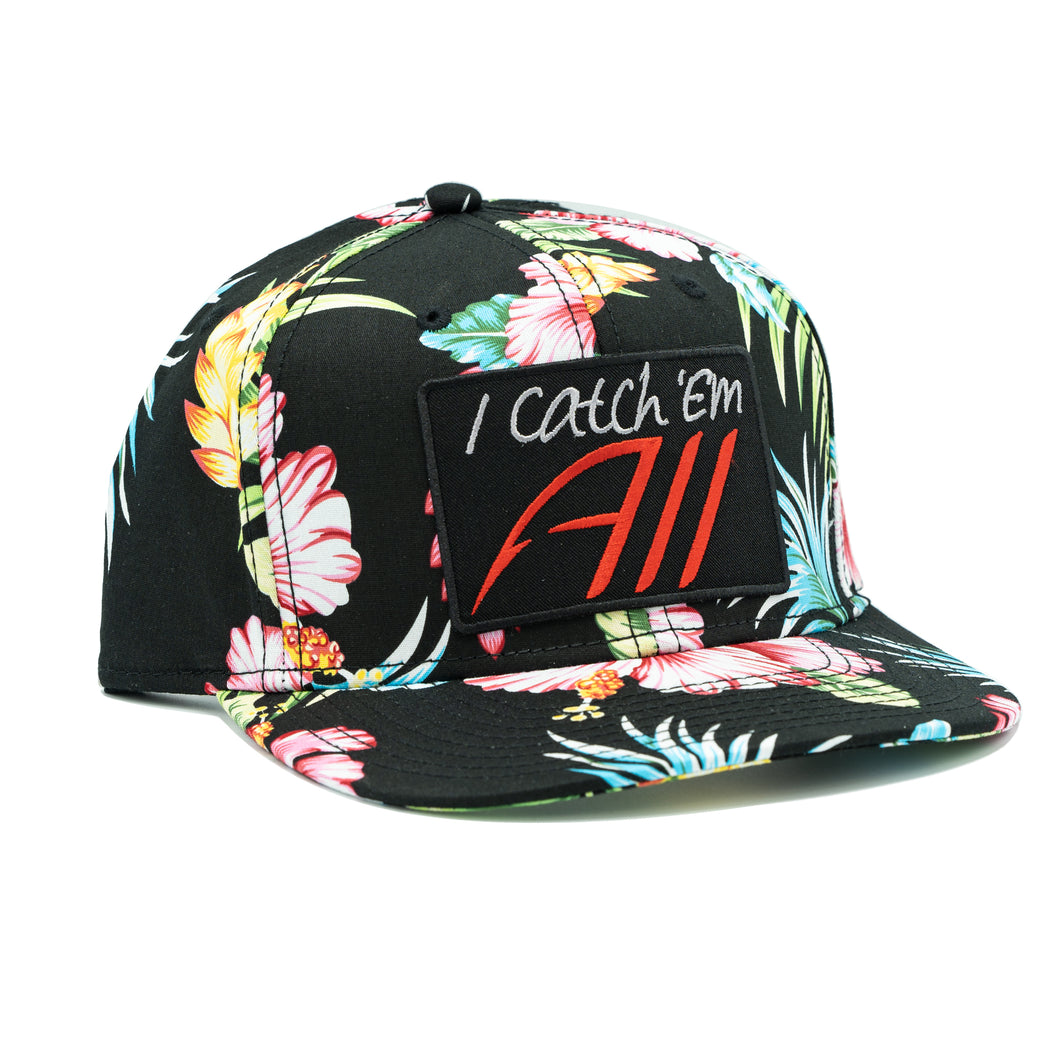 Catch Em All SnapBack Hat - Flower