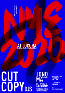 Locura NYE with Cut Copy + Jono Ma