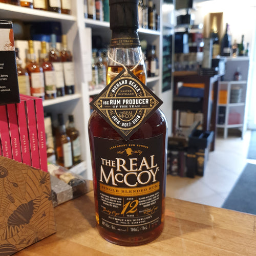 The Real McCoy 12 Years single blended Rum 46 % 0,7l Barbados Foursquare Distillery batch 1216